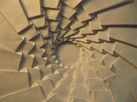 origami tessellation spiral origami paper