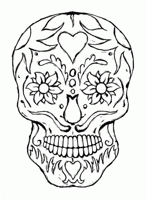 sugar skull coloring page pdf sugar skull owl coloring pages coloring home