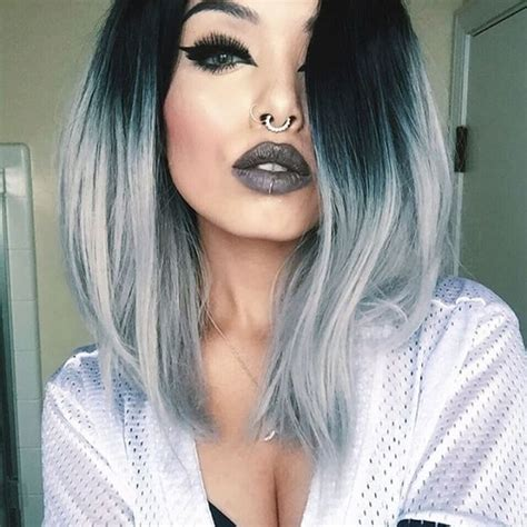 grey hair men 15 bob pinterest grey hair men gray my roots are lighter but i like where the ombre starts