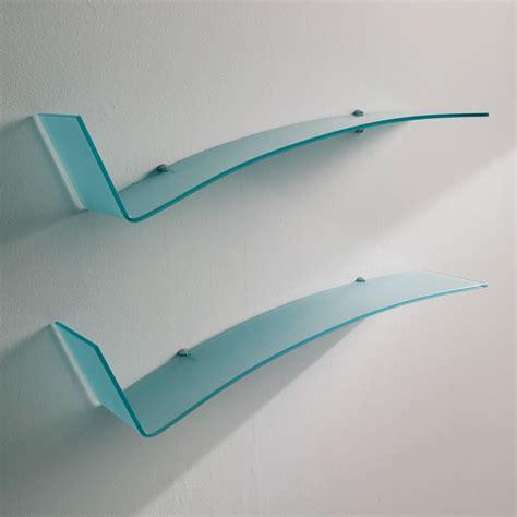 mensole in cristallo jazz mensola di design bontempi casa in vetro sediarreda