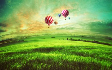 wallpaper hot air balloons scenery landscape hd