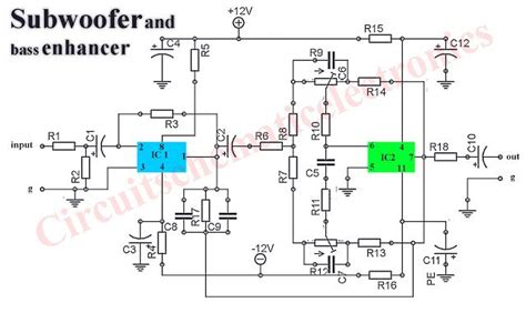 Stereo Audio Lifier 2 X 40w 1x68w Sub Output Hi Fi 2 subwoofer booster circuit is used to enanching or boosting