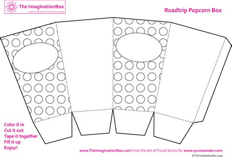 popcorn container template creative travel friendly activities and printables for