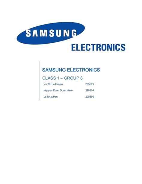 Samsung Electronics America Columbia Mba Linkedin by Samsung Electronics Project