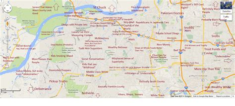 judgemental map of st louis judgmental map of west county stlouis