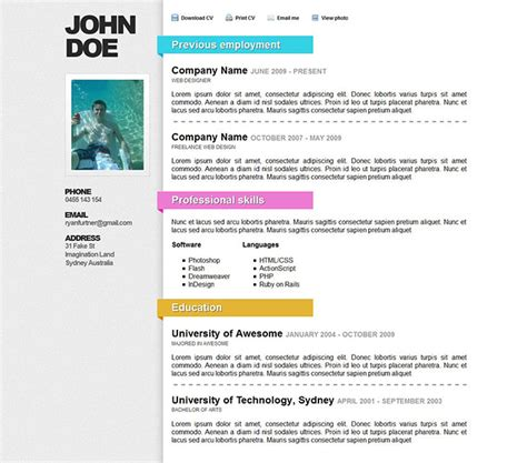 Best Resume Templates Doc by 52 Modern Free Amp Premium Cv Resume Templates
