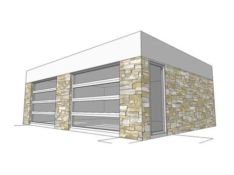 Garage Shop Designs by 2 Car Garage Plans Modern 2 Car Garage Plan 052g 0007