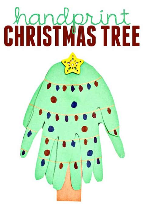 christmas tree crafts for preschool using handprint handprint tree craft