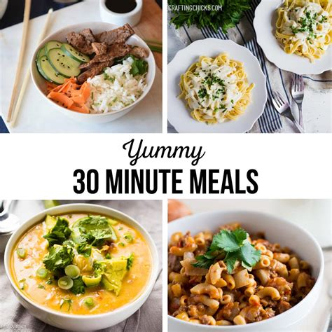 30 Minute Meals 30 minute meals the crafting