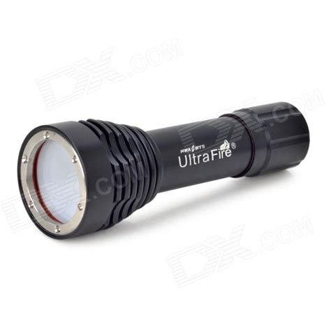Lu Led Light Ultrafire Lu 4 Led 600lm 5 Mode White Light Diving Photography Flashlight Black Free