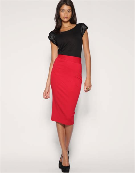 Side Slide Pencil Skirt in roland mouret look of the day huffpost