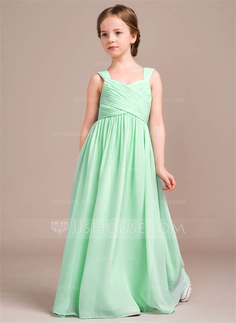 A Line/Princess Sweetheart Floor Length Chiffon Junior