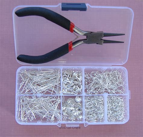 kit to make jewelry jewellery starter kit with pliers storage box
