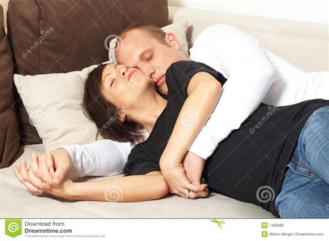 got a couple of couches sleep on the loveseat sleeping beauties royalty free stock images image 7483689