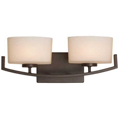 hton bay bathroom lighting hton bay burye 2 light oil rubbed bronze vanity light