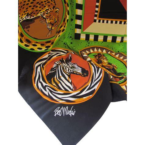 bob mackie wearable scarf safari theme in ethnic color