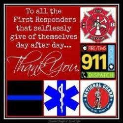 Merry Christmas Wall Sticker thank you first responders thankyoufirstresponder