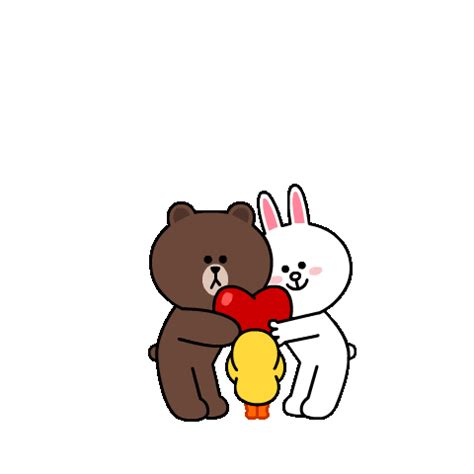 Sticker Mobil Stiker Lucu Sticker Hello Rabbit Baby In Car Sb line official stickers brown cony s big stickers exle with gif animation