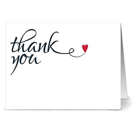 Thank You Letter Gift Card - save 32 heart felt thank you 36 thank you note cards blank cards red