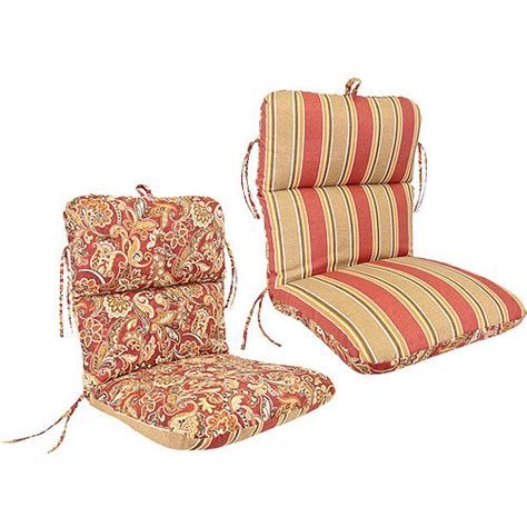 Reversible Deluxe Outdoor Chair Cushion Multiple Colors Walmart Patio Chair Cushions