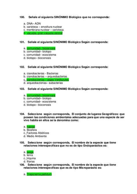 preguntas generales faciles biolog 237 a 300 con respuestas
