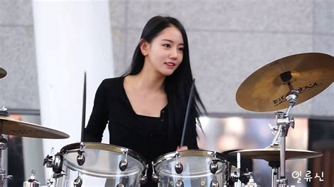 hot chick playing drums korea beautiful girl drumming youtube