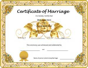 marriage certificate template microsoft word marriage certificate template format template