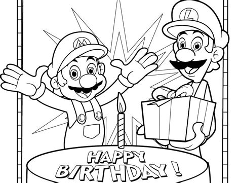 H Brothers Coloring Page by Jimbo S Coloring Pages Mario And Luigi Birthday Coloring Page