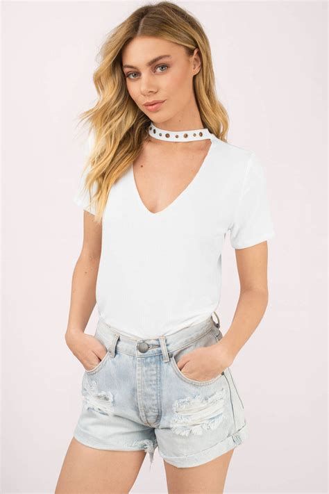 White Top by Trendy White Top Choker Top White Top 50 00