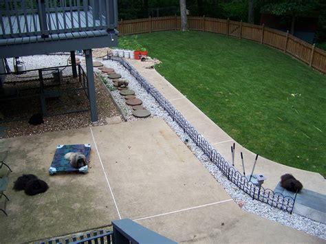 dog area in backyard triyae com cement backyard dog various design