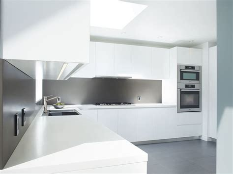 How To Corian To High Gloss high gloss white kitchen with corian counter top and back splash design by mazzie kitchen