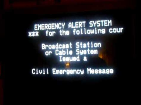 New Tv Alert by Real Civil Emergency Message Eas Alert On Tv 5 22 11