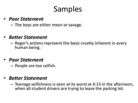 thesis statement structure writing a thesis statement