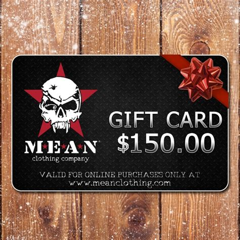 Clothes Gift Cards - mean clothing company mean gift card