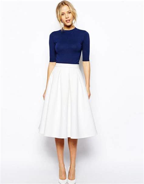 Imagenes De Faldas Blancas Largas | c 243 mo combinar una falda blanca 7 pasos con im 225 genes