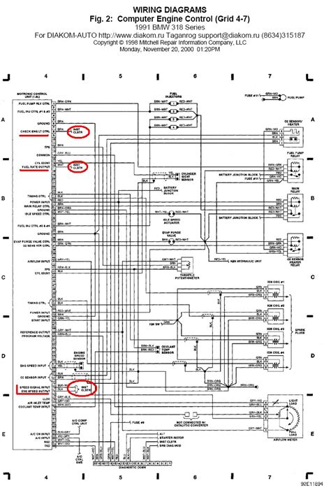 wiring diagram bmw e34 m50 wiring car wiring diagrams