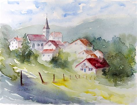 south american village photograph by sophie vigneault aquarelles martine jacquel saint ellier saumur
