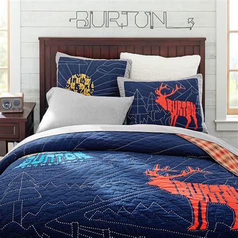 burton bedding burton extreme peak quilt sham pbteen
