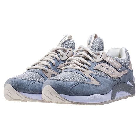 knit pack saucony grid 9000 knit pack mens trainers in grey