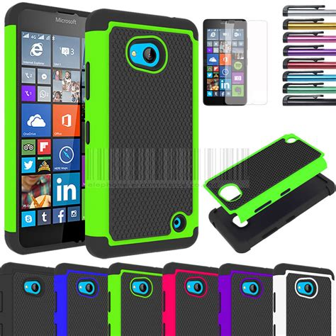 Microsoft Lumia 640 Casing Cover Hybrid Armor Soft Bumper rugged hybrid rubber protective cover for microsoft lumia 640 lte ebay