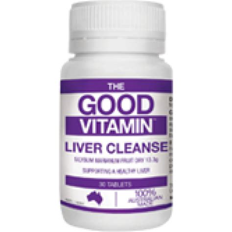 Vitamins For Liver Detox by The Vitamin Liver Cleanse 30 Tabs Your Chemist Shop