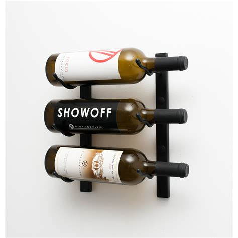 wall mounted wine cabinet vintageview wall series 3 bottle wall mounted wine rack