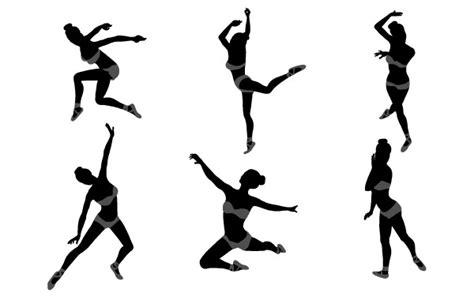 13897 Stripe Color dansen meisje silhouetten vector gratis