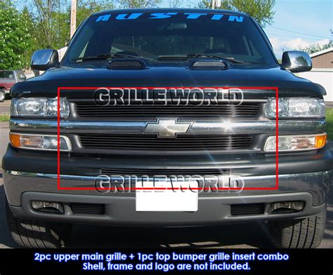 for 1999 2002 chevy silverado 1500 2000 2006 tahoe black billet grill pack ebay