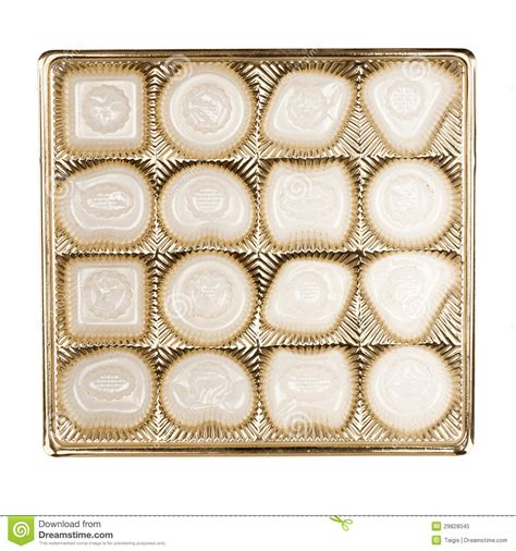 A Box Of White Chocolate empty box of chocolates stock image image of reuse