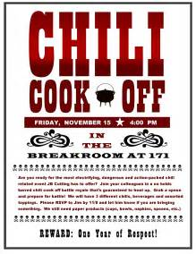 Chili Cook Template chili cook flyer template template idea