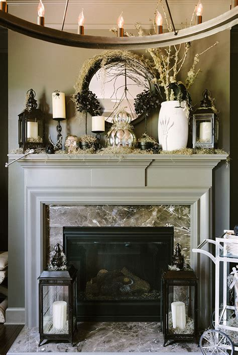 mantle decor 70 great halloween mantel decorating ideas digsdigs