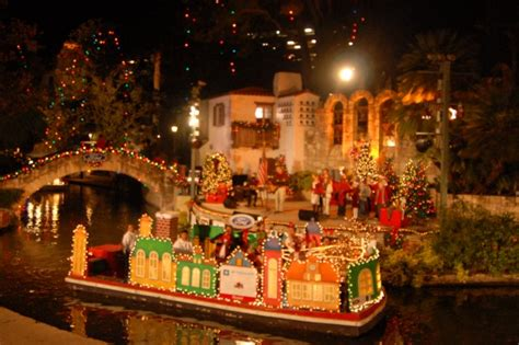 up in lights tx river parade and lighting ceremony in san antonio