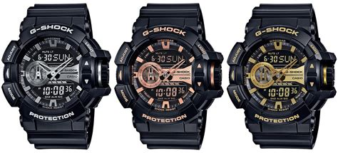 Gshock Ga 400 g shock ga 400gb black and silver gold yellow