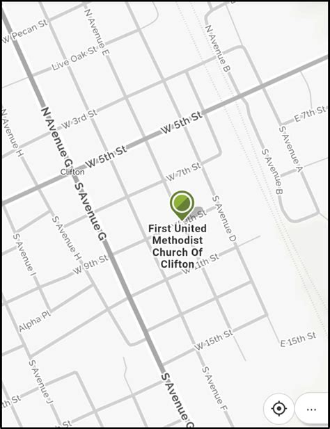 clifton texas map united methodist church of clifton texas